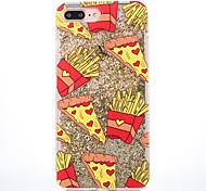 Case for apple iphone 7 7 плюс чехол для картошки фри шаблон мягкая сторона бриллиантовая шарик для флеш-накопителя для мобильного