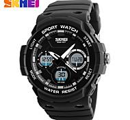 SKMEI Aaterproof PU Strap Sport Watch Chronograph Alarm Clock Military Army Sports Watches