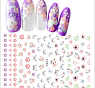 1pcs Nail Art 3D Flower Sticker Beautiful Flower Butterfly Lovely Bird Creative Design Nail Art DIY Beauty Tip Sweet Decoration F246