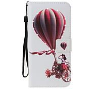 Caso para maçã iphone 7 7 mais tampa titular porta-carteira rhinestone com stand flip padrão balão corpo inteiro couro duro para 6 6plus