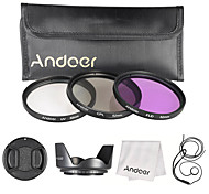 Andoer 52mm filter kit (uv cpl fld) нейлон переносить сумку объектив колпачок объектив колпачок держатель объектив капот объектив чистящая
