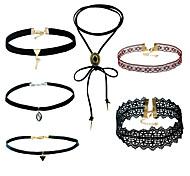 Жен. Набор украшений Ожерелья с подвесками Ожерелья-цепочки Ленты Мода Multi-Wear способы Африка Простой стильМеталлический сплав