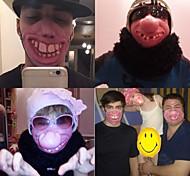 Хэллоуин весело страшная страшная маска сторона Хэллоуин дурак день клоун латекс маска косплей костюм наполовину маска для лица новый