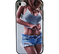 Case for apple iphone 7 plus 7 обложка рельефная модель задняя крышка чехол сексуальная леди soft tpu 6s плюс 6 плюс 6s 6 5 5s