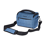 Andoer Cuboid-shaped DSLR Camera Shoulder Bag Portable Fashion Polyester Camera Case for 1 Camera 2 Lenses and Small Accessories