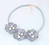 Жен. Ожерелья-бархатки В форме цветка Ткань Сплав Мода Euramerican бижутерия Бижутерия Назначение Повседневные