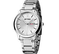 Men's Fashion Watch Quartz Stainless Steel Band Silver