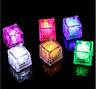 Diamond Ice Cube Shaped Colorful LED Light (12-Pack)
