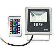 10W LED прожекторы 1 Высокомощный LED 800 lm RGB На пульте управления AC 85-265 V