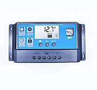 Солнечный регулятор заряда 30a двойной usb 5v выход 12v 24v автоматический большой дисплей lcd контроллер панели солнечных батарей