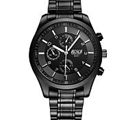 Men's Dress Watch Fashion Watch Quartz Alloy Band Casual Black