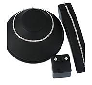 Жен. Цепочка Ожерелье / серьги Свадебные комплекты ювелирных изделий Базовый дизайн Геометрический Простой стиль бижутерия Металлический