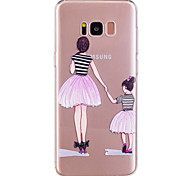 For Samsung Galaxy S8 Plus S8 Phone Case TPU Material Girl Pattern Painted Phone Case S7 Edge S7 S6 Edge S6