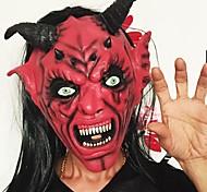 Черт возьми сатана маску ужас Хэллоуин новинка красное лицо взрослый размер сторона голова длинная маска для женщин для мужчин