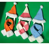Кошка Собака Банданы и шляпы Одежда для собак Рождество Полоски Зеленый Светло-синий Цвет-леопард