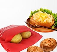 Печь микроволновой печеный красный картофельный мешок для быстрого быстрого за 4 минуты картофельных сумок