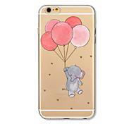 Чехол для iphone 7 плюс 7 обложка прозрачный узор задняя крышка корпус мультфильм слон воздушный шар мягкий tpu для iphone 6s плюс 6 плюс