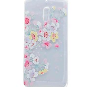 Case For Nokia 6 Cover Translucent Pattern Back Cover Case Cherry Blossom Soft TPU Case