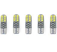 3w weiß dc12v t10 smd3014 24led canbus dekorative Lampe Leselicht Kennzeichen Licht Tür Lampe 5pcs