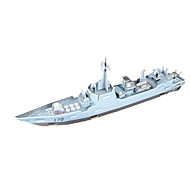 Пазлы Набор для творчества 3D пазлы Строительные блоки Игрушки своими руками Военные корабли Корабль