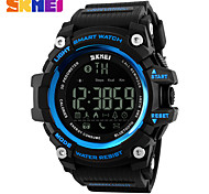 Men's Sport Watch Digital Watch Digital PU Band Black Red