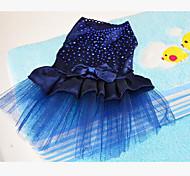 Собака смокинг Одежда для собак Для вечеринки На каждый день Сплошной цвет Красный Синий