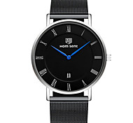 Men's Fashion Watch Wrist watch Quartz Calendar Alloy Band Black
