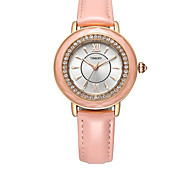 Women's Fashion Watch Quartz Leather Band Black White Pink