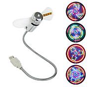 USB-вентилятор с мини-вентилятором с 64 цветными светодиодными круговыми дисплеями