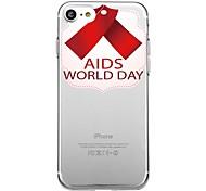 Для iphone 7plus чехол для крышки прозрачный узор задняя крышка сердце геометрический узор помогает красный ремень мягкий tpu для iphone 7