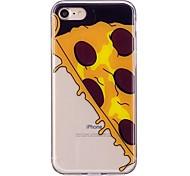 Случай для яблока iphone 7 7 плюс крышка случая pizza картины tpu материал imd корабль случай мобильного телефона для iphone 6 6s 6 плюс