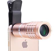 универсальный 10 × объектив телескопа для мобильных телефонов iPhone / Samsung серебро / золото / Роза / черный
