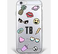 Случай для iphone 7 плюс iphone 6 продовольственный образец телефона мягкая раковина для iphone 7 iphone6 / 6s плюс iphone 6s iphone5 5s
