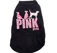 Кошка Собака Футболка Одежда для собак Мода Буквы и цифры Черный
