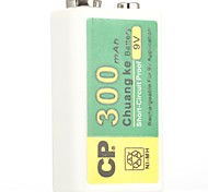 Cp ni-mh перезаряжаемая батарея 300mah 9v