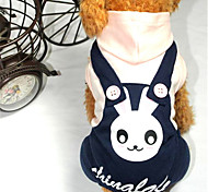 Собака Комбинезоны Одежда для собак ковбой Кролик Розовый Светло-синий