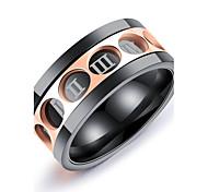 Муж. Классические кольца Мода Винтаж Elegant Титановая сталь Круглый Бижутерия Назначение Свадьба Для вечеринок Обручение Официальные Для