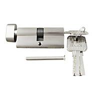 цилиндрический замок с поворотной ручкой цилиндр 70мм (35/35), цилиндровый замок с ручкой с 3-мя клавишами, кисть пятак