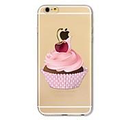 Чехол для iphone 7 плюс 7 обложка прозрачный узор задняя крышка чехол продовольствие мороженое мягкий tpu для яблока iphone 6s плюс 6 плюс