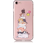 Case for iphone 7 7plus case cover cat pattern tpu материал устойчивый к царапинам корпус телефона для iphone 6s 6 6plus 6s плюс 5 5s se