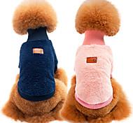 Кошка Собака Толстовка Одежда для собак На каждый день Сохраняет тепло Спорт Сплошной цвет Зеленый Синий Розовый Хаки