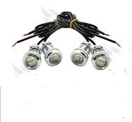 4 х льда 12v 9w СИД DRL глаза орла света автомобиля автоматический туман дневной сигнал обратного