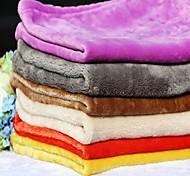 Собака Кровати Животные Одеяла Однотонный Теплый Складной Мягкий Цвет отправляется в случайном порядке