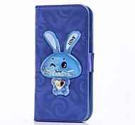 Чехол для iphone 6 6 плюс чехол для держателя карты с подставкой для кролика Перемещение песочной воронки флип pu кожаный чехол для iphone