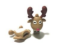 16gb рождество usb флеш-накопитель мультфильм рождественский олень рождественский подарок usb 2.0