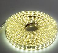 5м 220v Higt яркие светодиодные полосы света гибкие 5050 300smd три кристаллические водонепроницаемый свет бар света сада с штепсельной