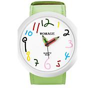 Женские Модные часы Кварцевый PU Группа Мультфильмы Черный Синий Красный Оранжевый Зеленый Желтый