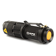 LED Flashlight / Torch FX SK68 1-Mode CREE XR-E Q5 Zoomable (200LM, 1xAA/1x14500, Black) Rechargeable Compact Size