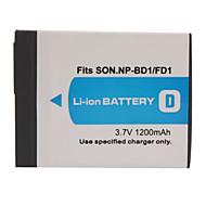 Câmera bateria 1200mAh np-bd1/fd1 para sony T200, T70