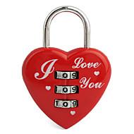 3-значный форме сердца замка багажника (красный)